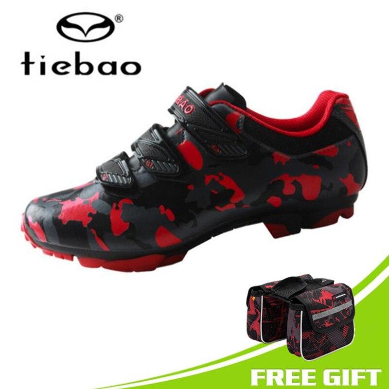 3237aa5c3f Tiebao Cycling Shoes MTB Men Sneakers Women Racing Bicycle Shoes Mountain  Bike Professional Self-locking PU Breathable Shoes