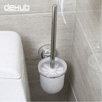 Супер всасывания настенные Нержавеющаясталь Туалет BrushToilet щетка для очистки Сталь ершик для унитаза антикварный туалетный