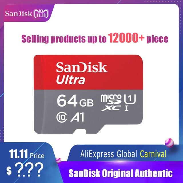 SanDisk מיקרו SD כרטיס זיכרון כרטיס 16 gb 32 gb 64 gb 128 gb MicroSD מקסימום 80 m/s Uitra C10 TF כרטיס C4 8 גרם cartao דה memoria