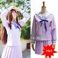 Anime Noragami Yukine Iki Hiyori Cosplay Vestido de Disfraces de Halloween Para Las Mujeres Traje de Marinero Uniforme Escolar Japonés Conjunto Completo