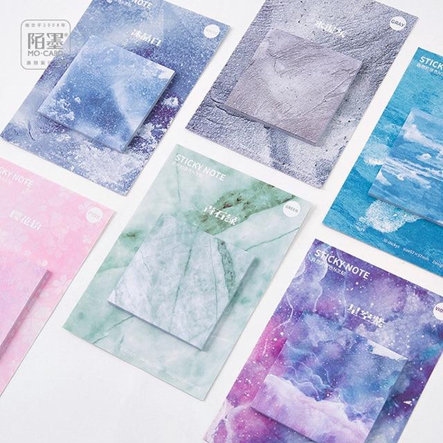 1 Х смазливая Цвет Природы memo pad бумаги sticky notes блокнот post it kawaii канцтовары школьные принадлежности материал эсколар papeleria