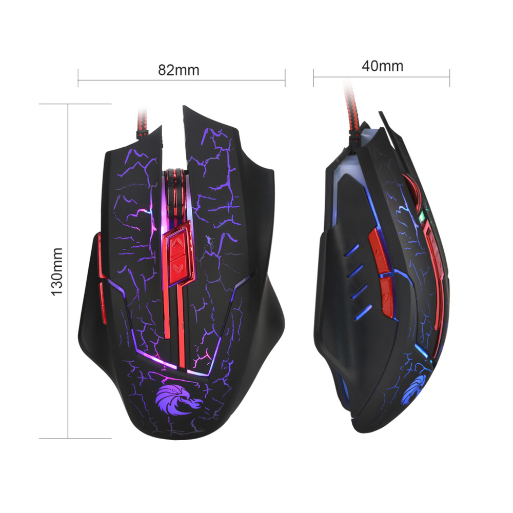 Image 3 - HSXJ H800 Colorful Gaming Mouse 5500DPI 7 Buttons LOL Optical USB Wired Computer Professional Game Mice For Game Computer Laptop-in Mice from Computer & Office