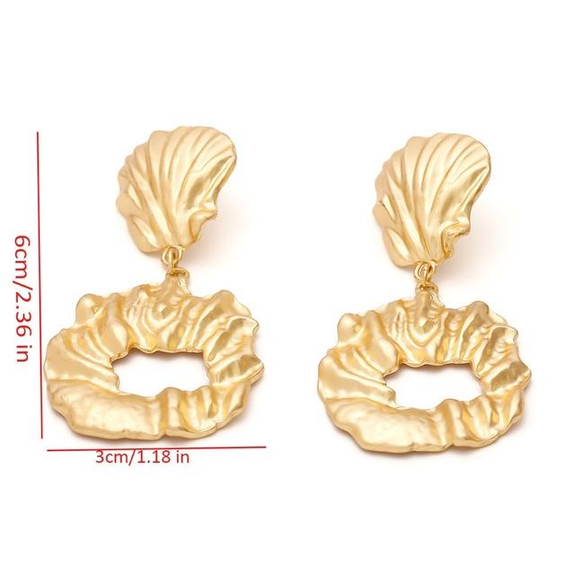 Vintage earrings for women metal gold color Statement dangle earrings 2018  geometric earings Punk fashion jewelry  Accessories