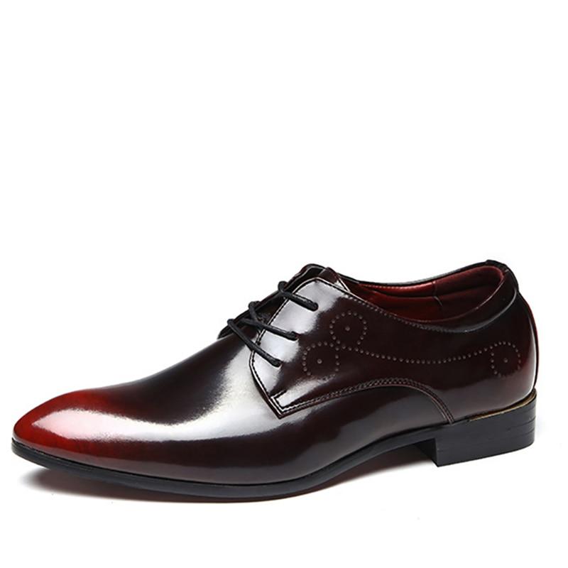 Elegante Msw8118118 blue Verão red Escritório Homem De Black Couro Sapatos Designer Social Homens Vestido wq7R4v7X