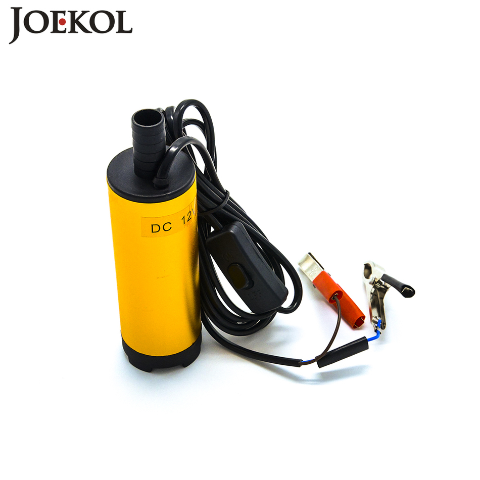 Aluminium Alloy Oil pump DC 12V/24V electric fuel transfer pump 30L/Min Submersible water diesel pump oil suction 51mm dc 12v water oil diesel fuel transfer pump submersible pump scar camping fishing submersible switch stainless steel