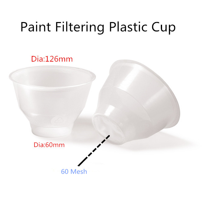 Spray Gun Filtering Plastic Cup with Nylon Net. Suitable for water based paint and solvent based paint.  plastic spray head nozzle for water spray gun