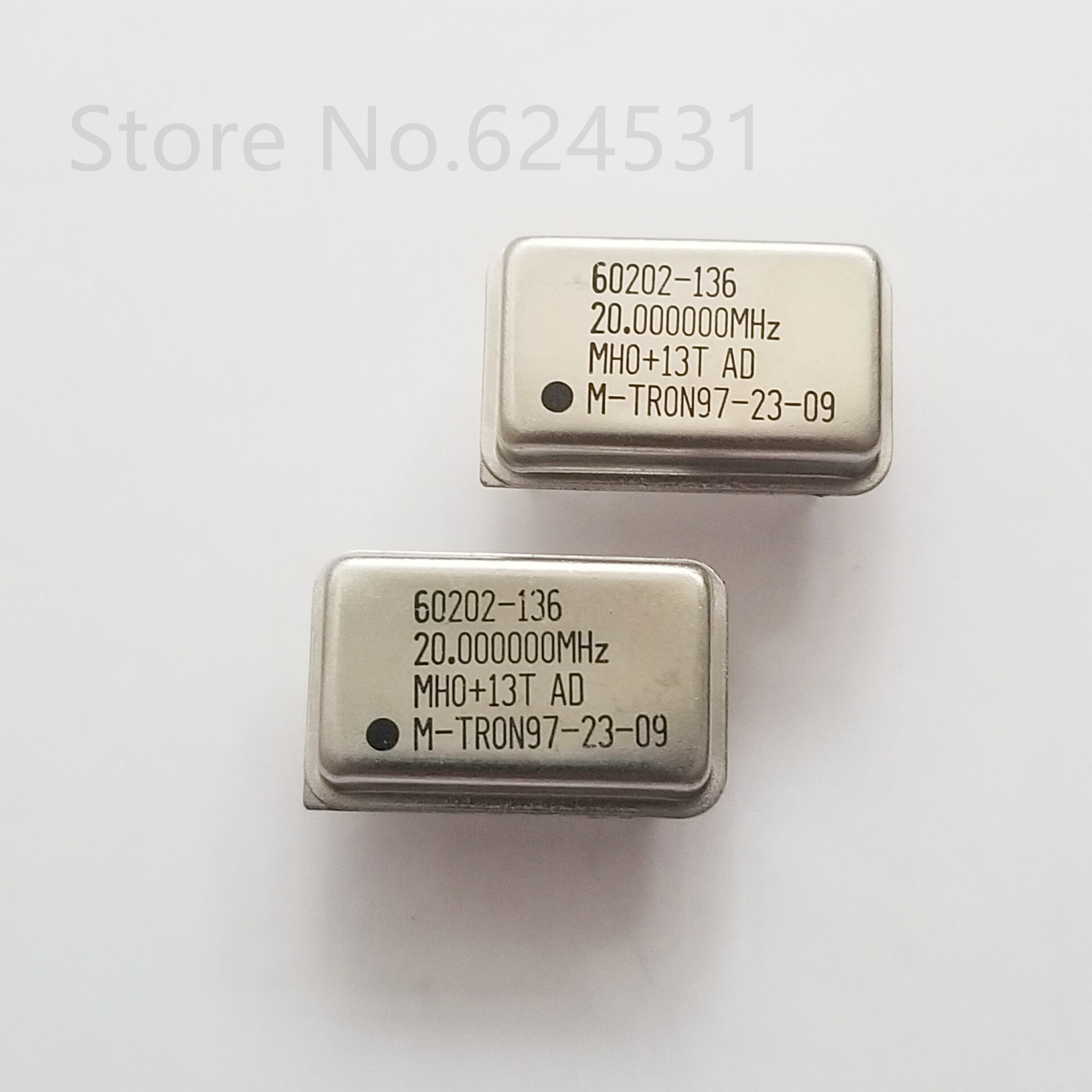 5pcs In-line Active Crystal OSC DIP-4 Rectangular Clock Vibration Full Size 20M 20MHZ 20.000MHZ