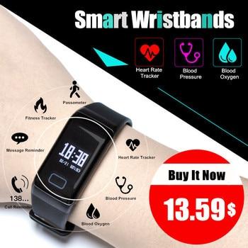 Fitness Tracker Pedometer LERBYEE Waterproof Watch Bluetooth Activity Tracker Sports Bracelet Smart Band Wristband PK mi band 2 smart watch band