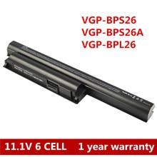 6 Cell Akku für Sony VAIO VPC-SVE eh VPC-CA VPC-CB VPC-EG VGP-BPS26 VGP-BPS26A VGP-BPL26 VPC-CA15FA/P VPC-CA15FF/G VPC-EH1S8E