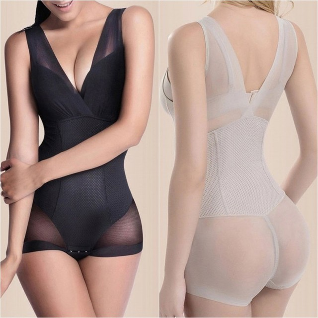 1fcecbf80ce5c Lady Nude Black Slip Body Shaper Firm Tummy Control Underbust Shapewear L  XL XXL-in Bodysuits from Underwear   Sleepwears on Aliexpress.com