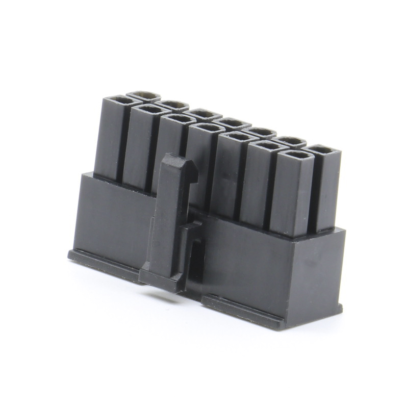 60pcs 5557 14pin/way Connector 4.2mm Pitch Male Plastic Shell Black Terminals For Computer ATX Power Cars