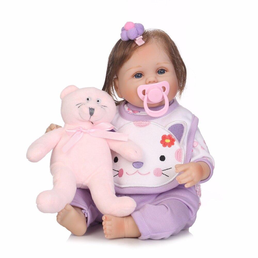 NPK 22 Inch Silicone Reborn Babies Realistic Princess Girl Dolls Lifelike Reborn Kids Children Birthday Gifts for girls