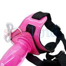 Waterproof 10 Modes Vibration Harness Flexible G-spot Strap-ons Dildos for Lesbian, Erotic Sex Toys for Couple