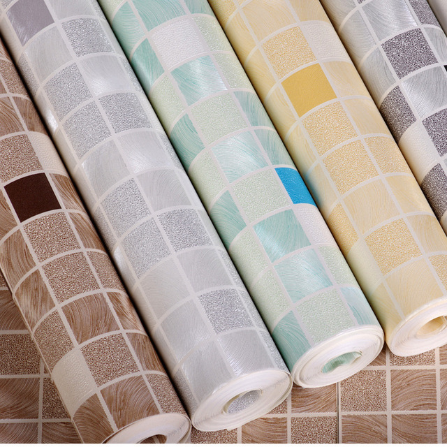 Kitchen Tiles On A Roll hot modern mosaic vinyl wall paper roll simulation tile wallpaper