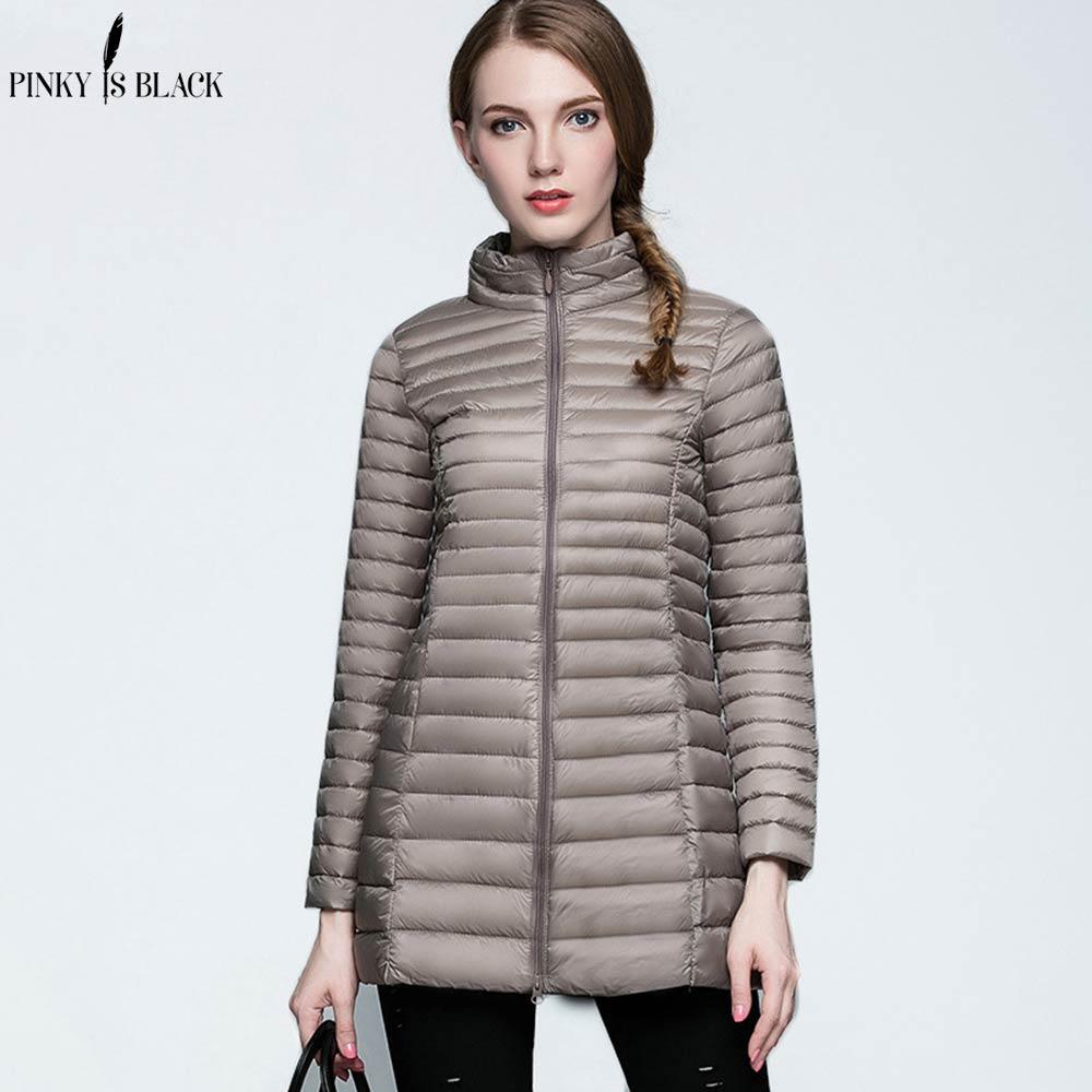 PinkyIsblack Duck Down Jacket Women Winter 2019 Outerwear Coats Female Long Casual Light Ultra Thin Warm Down Jacket Parkas
