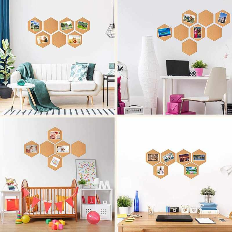 Nordic styl wiadomość rama z drewna biuletyn tablica korkowa domu sześciokątne kwadratowe koło fototapeta wystrój dekoracji wnętrz biurowych