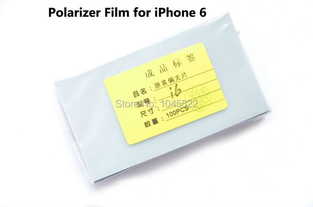 "Wholesale 100pcs 6g 4.7"" Original LCD Polarizer Film Polarization Polarized Light Film for Apple iPhone 6 4.7"" LCD Screen Repair"