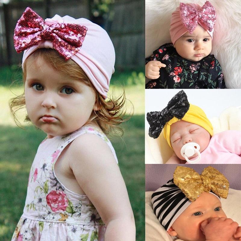 Fashion Newborn Toddler Kids Baby Boy Girl Clothing Accessories Turban Cotton Beanie Hat Winter Cap