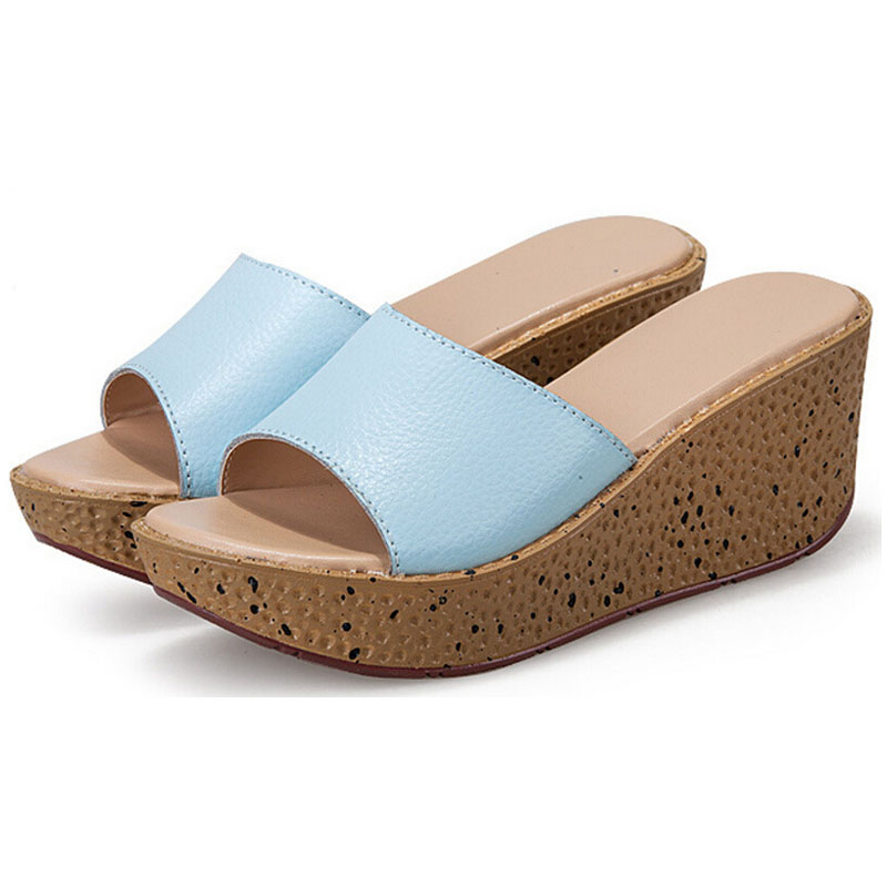 Fashion Sandals Summer Wedges Platform Shoes Woman Slip On Creepers Flats Slipers Casual Flip Flops Plus Size 25-61 P5d11