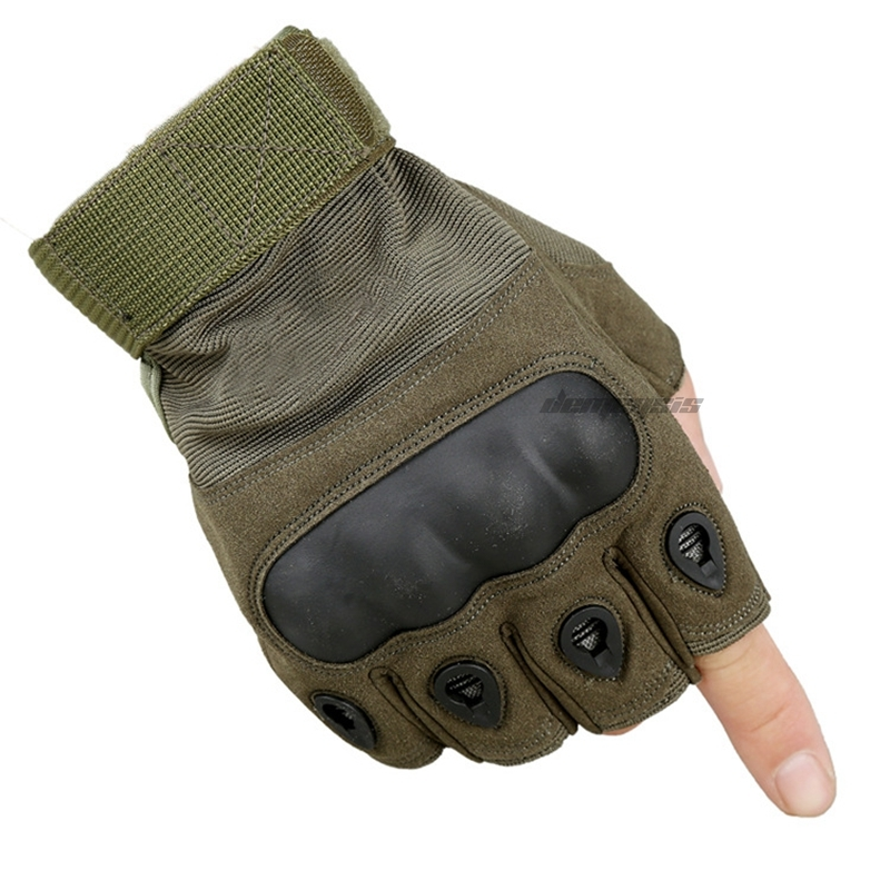 Taktische Militärische Kampf männer Armee Handschuhe Jagd Schießen Airsoft Paintball <font><b>Half</b></font> <font><b>finger</b></font> Handschuhe Polizei Duty <font><b>Finger</b></font> Handschuh image
