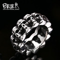 Beier new store 316L Stainless Steel ring top quality punk skull ring vintage domineering skull  fashion Jewelry BR8-225