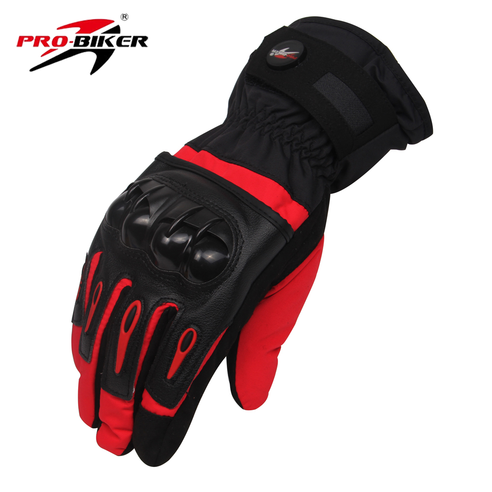 Pro biker winter thermal warm motorcycle gloves protective waterproof windproof motocross skiing snowboard gloves moto