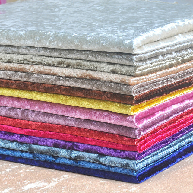 1 Meter Cut Velvet Fabric Upholstery For Curtains Pink Rose Red Sewing Textile Sofa Cushions Telas