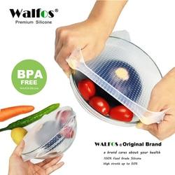 WALFOS multifonctionnel alimentaire frais garder Wrap outils de cuisine réutilisable Silicone alimentaire enveloppes joint vide couverture couvercle Stretch
