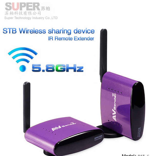PAT650 5.8G 300m Wireless STB AV Sender TV Audio Video Transmitter&Receiver for IPTV DVD video transmission audio video adapter