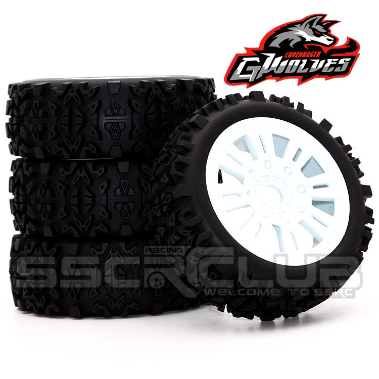 4pc GWOLVES 1/8 RC Buggy Scale Truck Off-Road Tyre Banner Wilderness tires glue wheels Contest practice for 1/8 RC car parts lw 20mg 20kg waterproof high torque digital servo with metal gear for rc car 1 10 1 8 off road car buggy truck part
