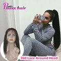 360 Кружева Фронтальная 7А Перуанский Девственные Волосы Прямо Естественно Волосяного Покрова 360 Кружева Группа Фронтальная Закрытие С Волосами Младенца 360 Фронтальная волос