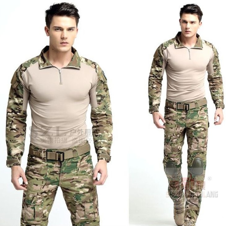 Combat Uniform Gen3 Shirt+pants Military Army Suit With Knee Pads Multicam Uniform Set Tactical Traning Clothes Set emersongear gen 2 bdu airsoft combat uniform training clothing tactical shirt pants with knee pads multicam tropic em6972