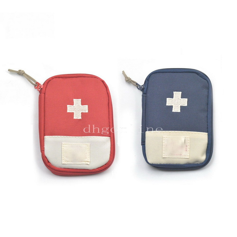 Furniture 2 Pcs Canvas Bags Camping First Aid Kits Use For Emergency Survival Medical Sports Pouch Stash Red Dark-blue Choice Durable In Use