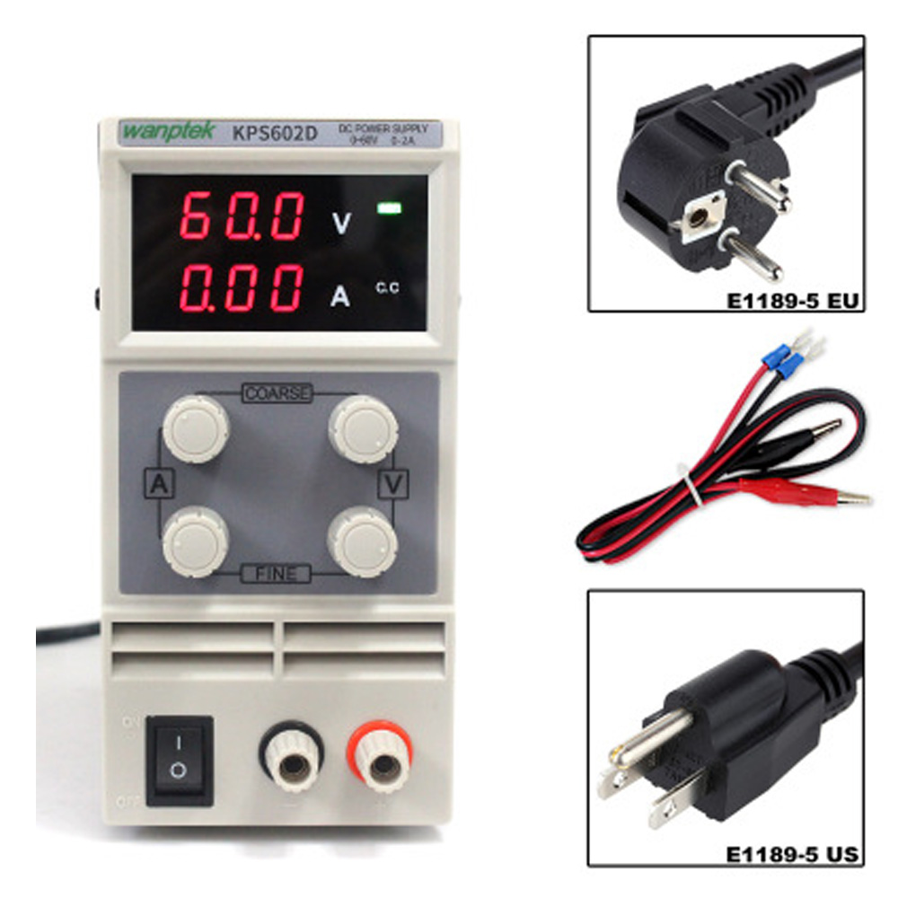 цена на 60V 2A DC Regulated Power High Precision Adjustable Supply Switch Power Supply Maintenance Protection Function KPS602D