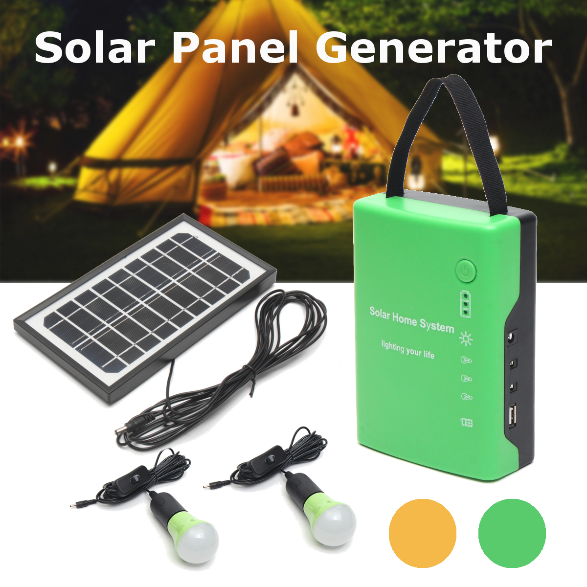 4.5Ah/6V batteries Energy Portable Home Outdoor Solar Panel Power Generator USB Cable Charge Emergency LED Light System4.5Ah/6V batteries Energy Portable Home Outdoor Solar Panel Power Generator USB Cable Charge Emergency LED Light System