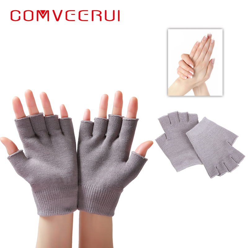 1 Pair Gel SPA Gloves Hand Mask SPA Gel Super Soothing Hydrating Gloves Moisturizing Nourishing Half Gloves Essential Oil Tool