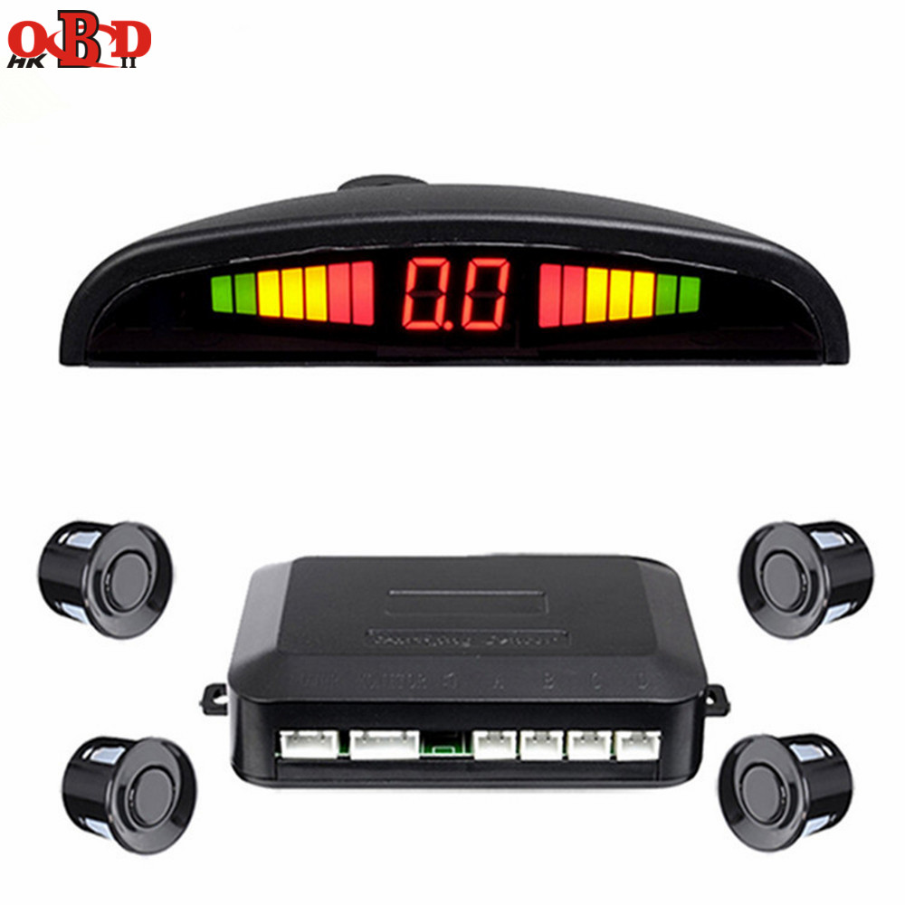 HKOBDII Auto LED Parkplatz Sensor Kit Display 4 Sensoren 12V für alle Autos Umge Assistance Backup Radar Monitor System
