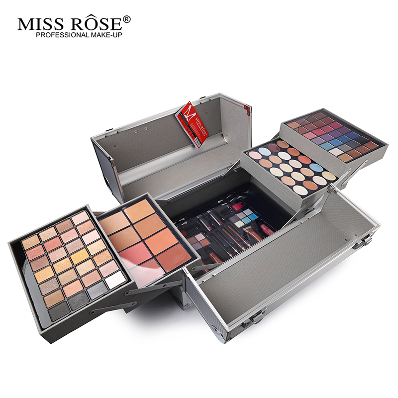 Miss Rose Makeup Box Face Powder Eyeshadow Blush Concealer Palette Nail Polish Lipstick Lip Gloss eyeliner Make Up Set Kit 8pcs makeup brushes cosmetics eyeshadow eyeliner brush kit 15 color concealer facial care camouflage makeup palette sponge puff