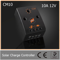 10A 12V PWM Solar charge controller equipped with a microcontroller suitable for Lead acid (GEL, AGM, flooded) battery type