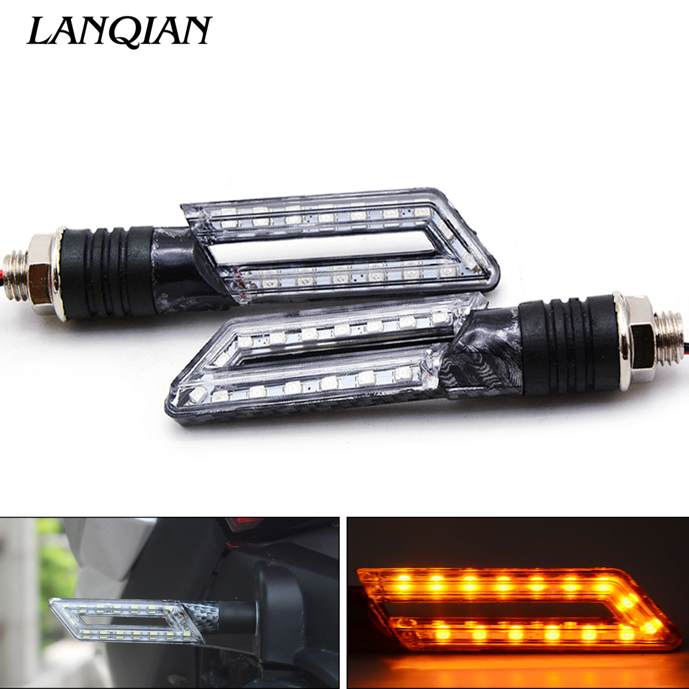Universal Motorcycle Turn Signal Light Indicators Light For Yamaha YBR 125 YZF R1 R3 R6 R125 R25 TTR RSZ CBR600 YZF600 MT 03 25