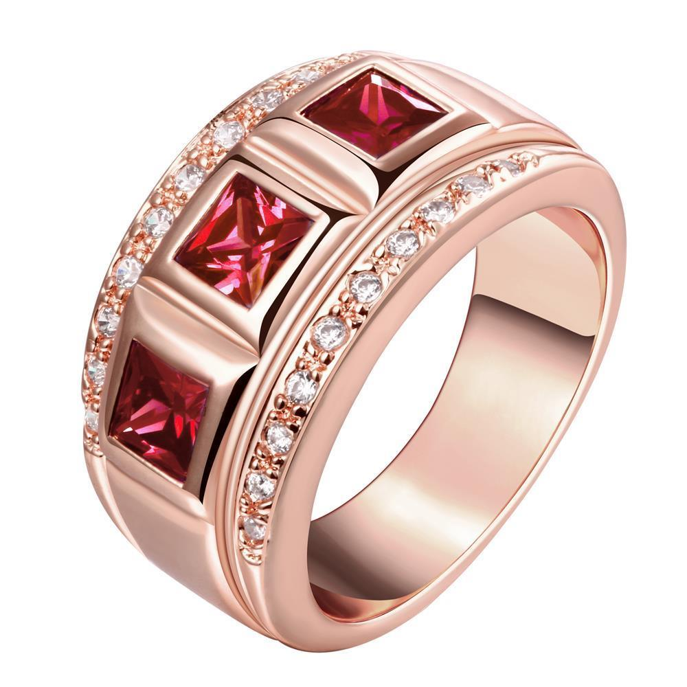 R196-A-8 High Quality Nickle Free Antiallergic New Fashion Jewelry 18K Plated zircon Ring