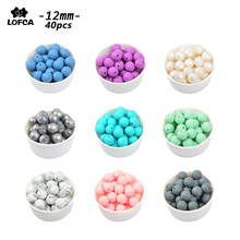 LOFCA 40pcs 12mm Silicone Beads Teething Chew Beads Food Grade Teether Necklace BPA Free Diy Jewelry Baby Teether Toy Pacifier(China)