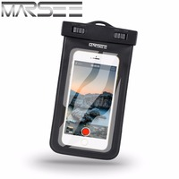 Universal Waterproof Phone Case With Compass Lanyard Best Water Proof Dustproof Snowproof Pouch Bag For 4in