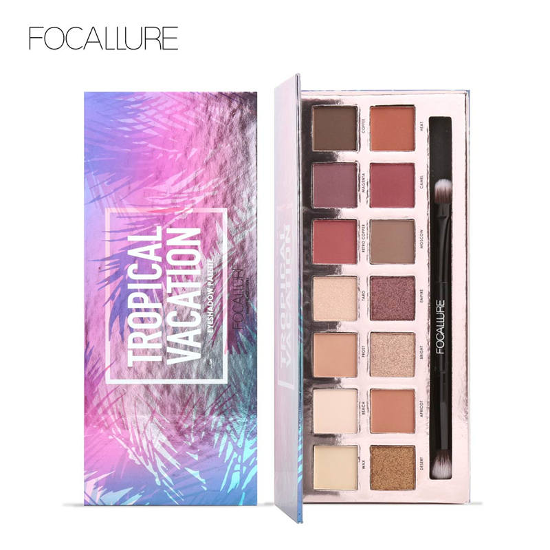 1PC Focallure Fashion Eye Makeup Eye Shadow Shimmer Matte Palette Natural Make Up Light 14 Colors Eyeshadow Cosmetics