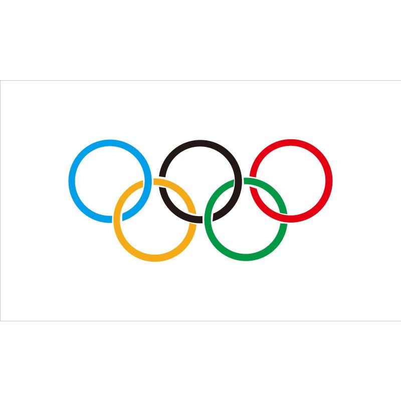 90*150cm/60*90cm/40*60cm/15*21cm Olympic Flag 5x3FT Polyester Eyelets Banner Sign Rings Summer
