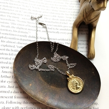 925 Sterling Silver Six Pence Coin Designed Pendant Necklace