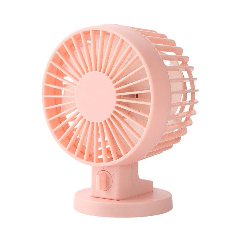 Ultra-quiet Mini USB Fan Desk Office Silent Desktop Fan With Double Side Fan Blades Creative Home Pink