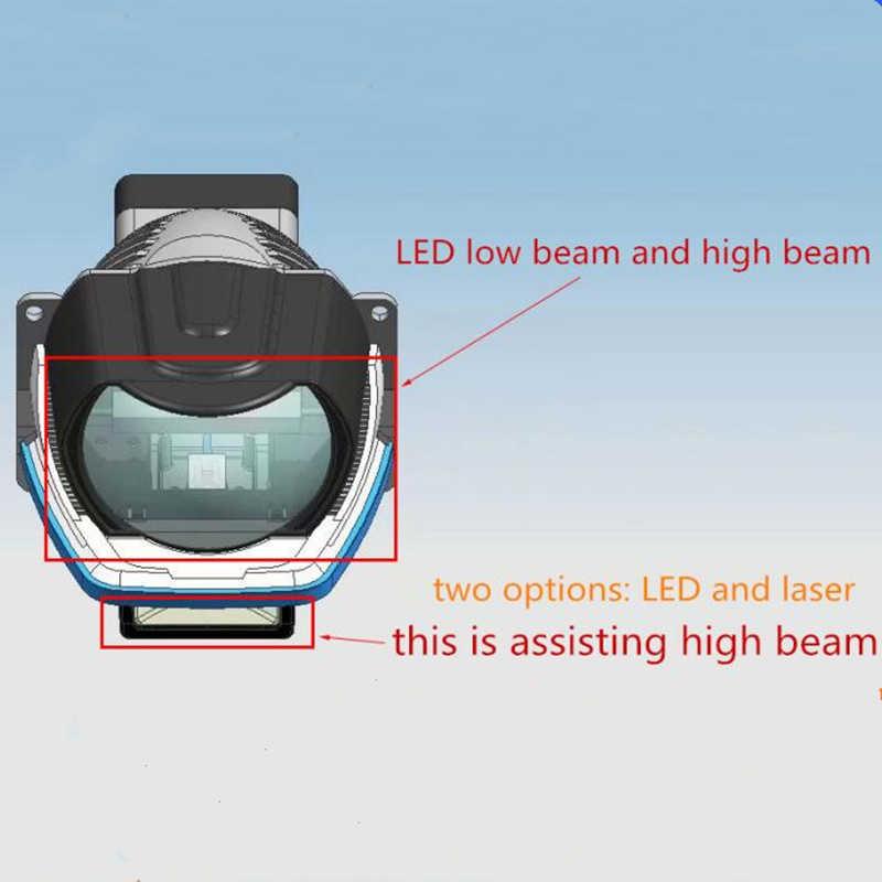 Светодиодный лазерный проектор DLAND JGL BI, объектив 3 дюйма, с великолепным ближним и светодиодным лучом