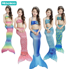 Medoboo 3PCS/Set Girls Swimsuit Children Bikini Swimwear Mermaid Tail Kids Bathing Beachwear Swimming Pool Wear Suits 20