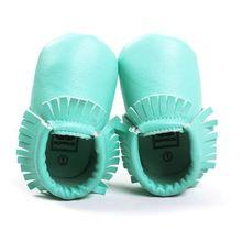 Принцесса Малышей Младенческой Мягкой Подошвой ПУ Кожаные Ботинки Кисточки Детские Различные Bebe Мокасины 0-18 M